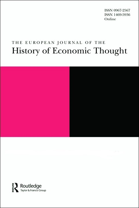Cover of Journal of the History of Economic Thought